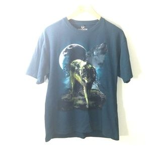 Outdoor life Wolfe moon t shirt moon size small
